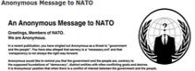 Anonymous knackt die NATO