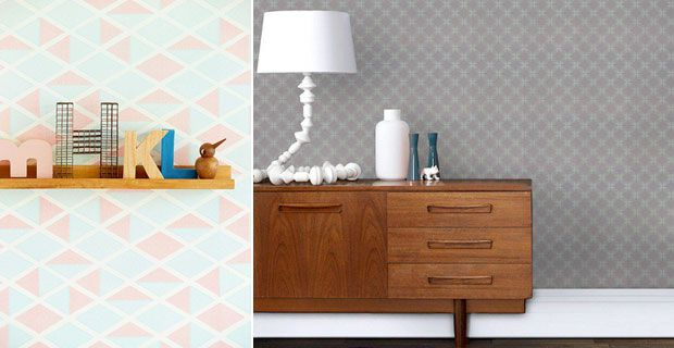 raumgestaltung 2015 grafische muster und retro look. Black Bedroom Furniture Sets. Home Design Ideas