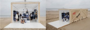 H m beach pop up store for Holzcontainer wohnen