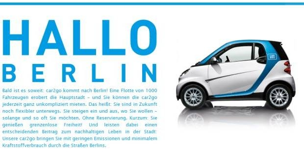 car2go berlin nur auf excite de. Black Bedroom Furniture Sets. Home Design Ideas